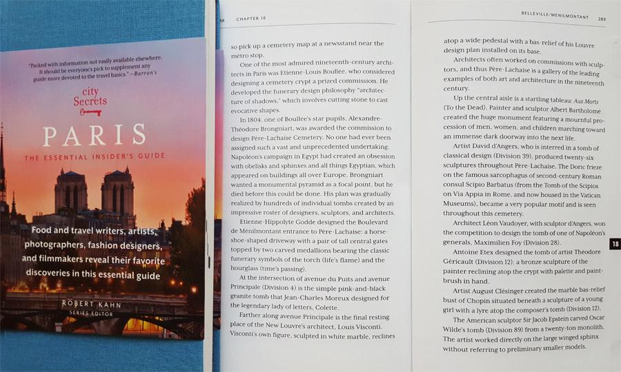 City Secrets Paris book
